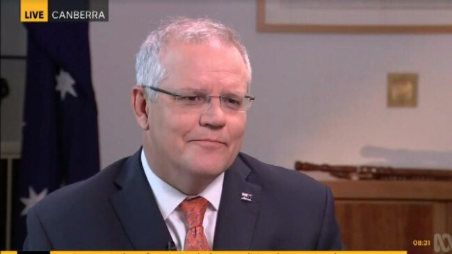 Scott Morrison on the ABC to talk about the bushfires this morning