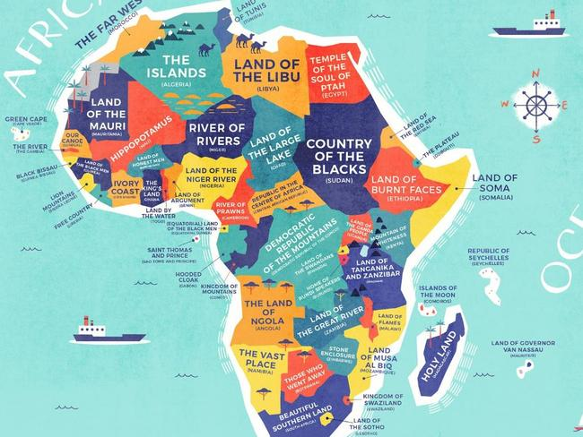 Africa's original country names refers to tribes and the landscape of each country Picture: Credit Card Compare