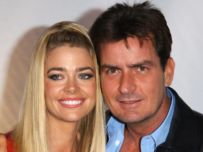 Actor Denise Richards and her actor husband Charlie Sheen in 2003. Picture: Supplied