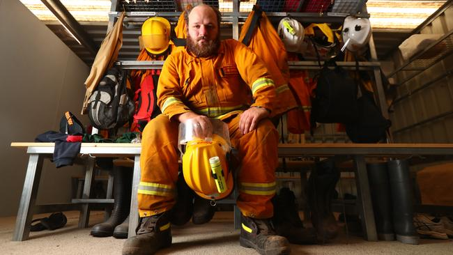 Captain of the Yorketown CFS Lachlan Hennekam. Picture: Tait Schmaal