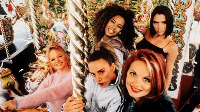 The Spice girls in 1996. Picture: Supplied