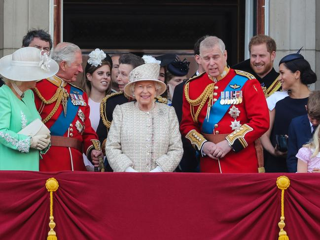 Some were disappointed that Meghan did not bring baby Archie onto the balcony but experts say the Queen wanted to avoid a 'tantrum'. Picture: Matrix Pictures
