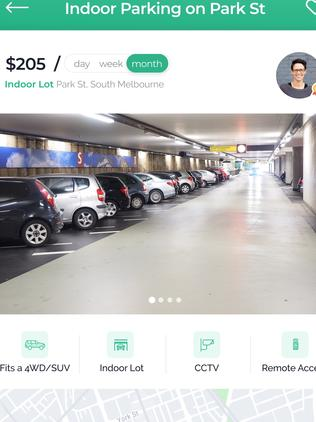 Parkhound uses Augmented Reality technology to measure your car space dimensions.