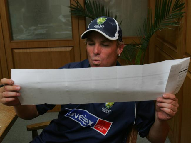 The senate ballot paper is ridiculously long. It's not a new phenomenon, with this image of Shane Warne studying the voting paper from 2004. No wonder people don't want to fill out the boxes below the line.