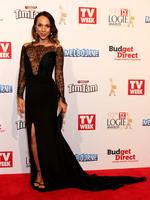 Ariel Kaplan on the red carpet at the 2015 Logie Awards at Crown Casino in Melbourne. . Picture: Julie Kiriacoudis