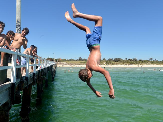 Summer fun at Seaford Pier at Seaford Beach. Picture: Jay Town