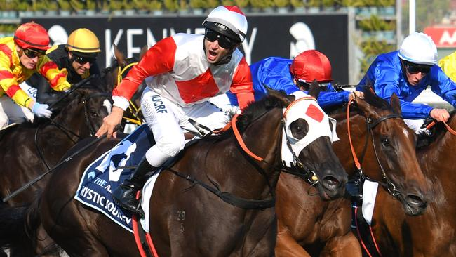 Mystic Journey is the early favourite to win the Cox Plate. Picture: Getty Images