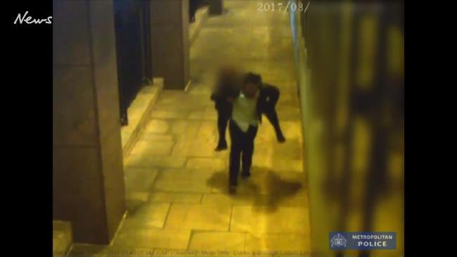 Chilling CCTV shows man carrying drunk woman down alleyway before raping her