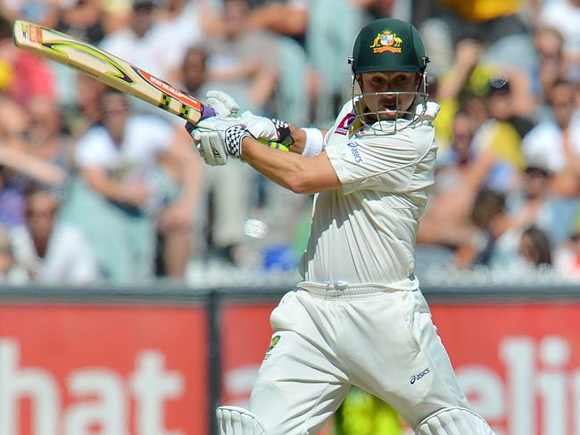 Ed Cowan in action for Australia in the 2012 Boxing Day Test
