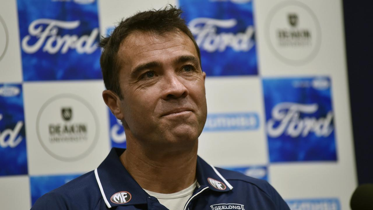 Geelong Cats coach Chris Scott says skills are better than when he played. Picture: Alan Barber