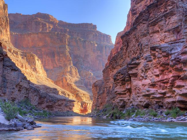You'll travel alongside parts of the Colorado River along the way.