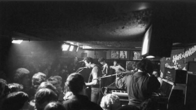 The Stranglers perform in 1977.