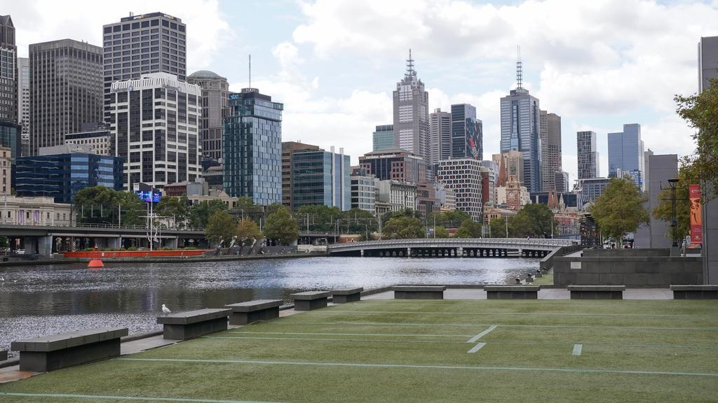 Melbourne CBD has been deserted. Picture: AAP Image/Scott Barbour