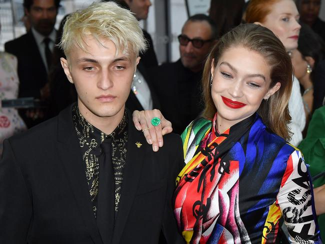 Model siblings Anwar and Gigi Hadid at the 2018 CFDA Fashion Awards. Picture: AFP