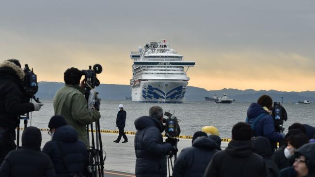 People on board the Diamond Princess cruise ship in Japan have the virus. Picture: Kazuhiro Nogi/AFP