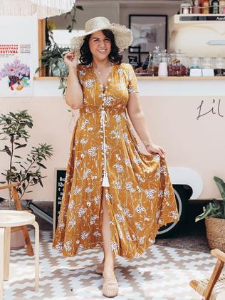 Influencer Rachael Gough recently thrilled her social media fans in the mustard version of the must-have garment. Instagram / champagnesilvousplait