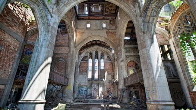 The church's impressive edifice was reportedly funded by a priest with the backing of US Steel, America's largest steel company. Picture: Matthew Christopher/Caters News Agency
