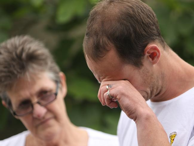 Chase Clarke blames himself for the death of his wife Kelly. Picture: John Grainger