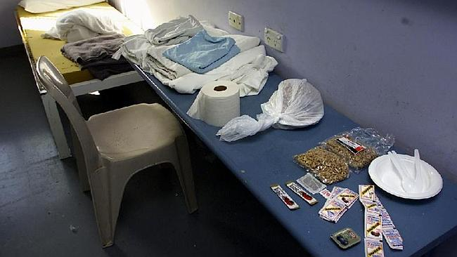 What Simon Gittany is allowed to have in his prison cell. Picture: News Limited.