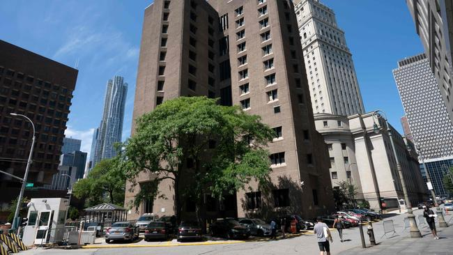 The Metropolitan Correctional Center where financier Jeffrey Epstein was being held, and where he died. Picture: AFP