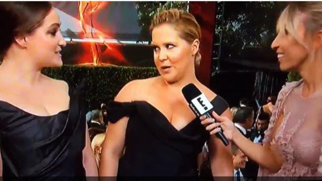 Amy Schumer just upped the ante for red carpet interviews.