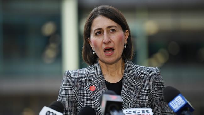 NSW Premier Gladys Berejiklian has put a ban on cruise passengers disembarking in NSW. Picture: Dean Lewins/AAP