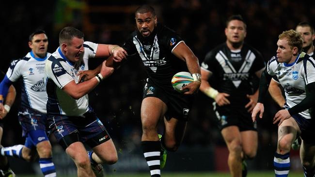 Frank Pritchard playing for the Kiwis.