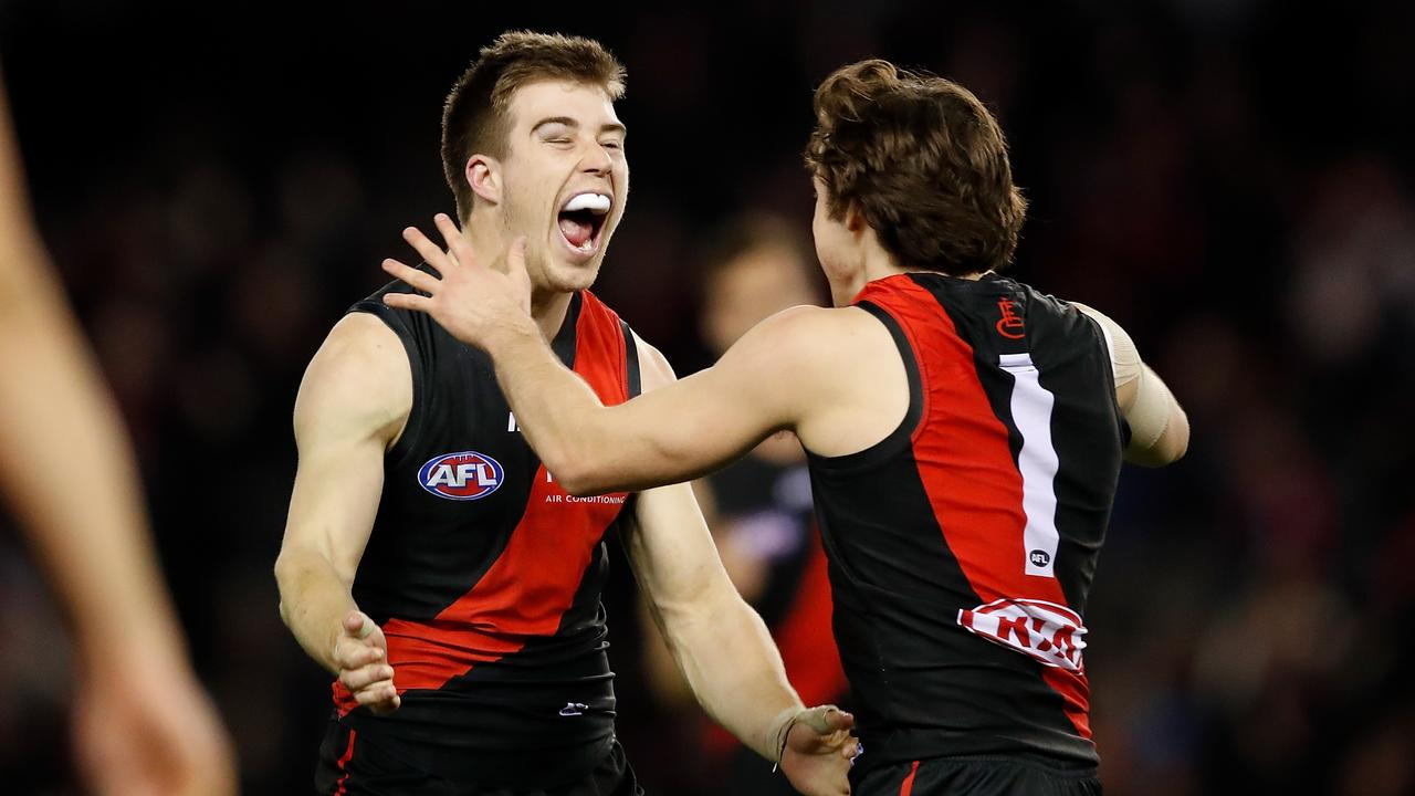 Zach Merrett and Andy McGrath are set to be joined by Dylan Shiel in the Essendon midfield in 2019.