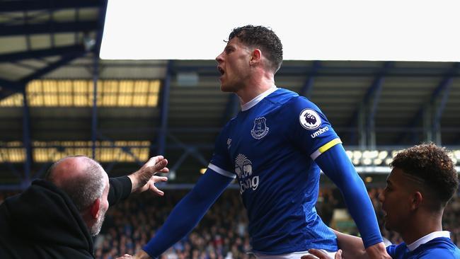 Ross Barkley of Everton celebrates.