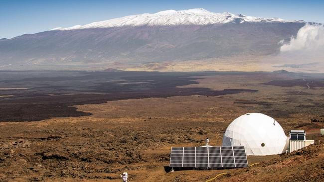 The exterior of the HI-SEAS habitat on the northern slope of Mauna Loa in Hawaii. Picture: AFP.