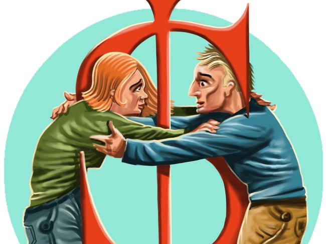 Healthy couples' finances required both partners working together. Illustration: John Tiedemann