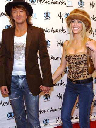 Heather Locklear and her ex husband Richie Sambora.