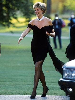 Diana's iconic revenge dress. Picture: Jayne Fincher/Getty Images