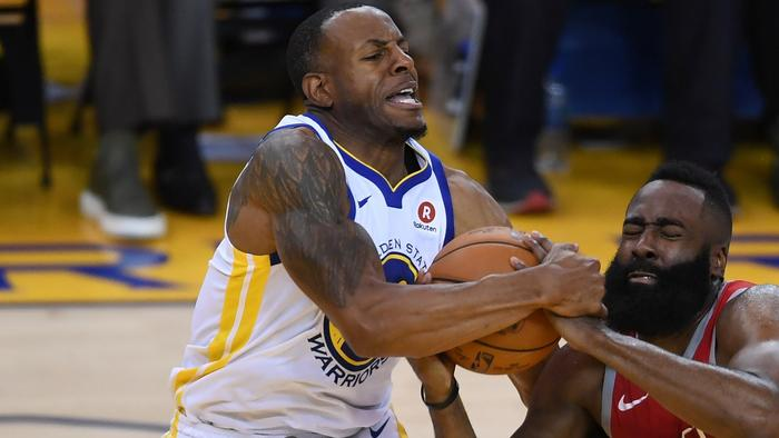 Andre Iguodala listed as 'doubtful' for Game 4 with knee contusion