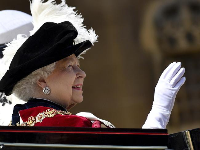 The Queen waved to the large crowds who had packed Windsor's streets. Picture: AP
