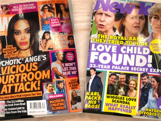 Angie and Brad dominated mags this week.