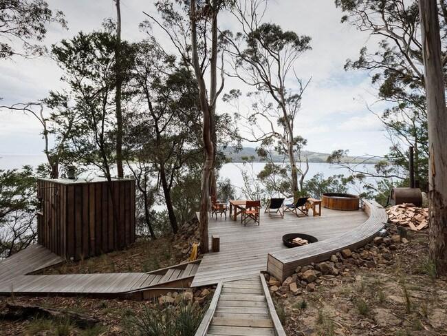 Aerie Retreat on Bruny Island, Tasmania. Picture: Stayz