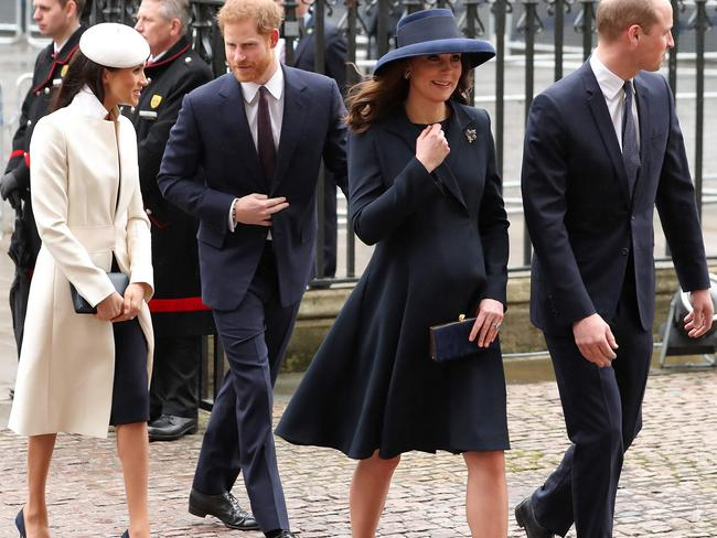The royals at a Commonwealth Day Service at Westminster Abbey. Picture: AFP PHOTO / Daniel LEAL-OLIVAS