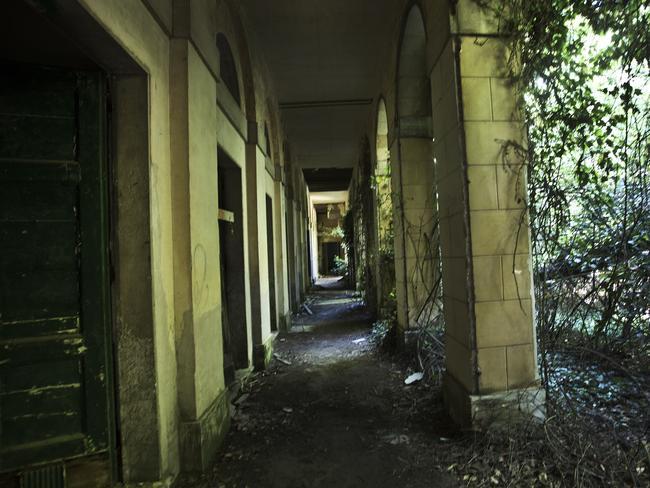 Empty corridors ... on Poveglia Island, Venice. Picture: Ella Pellegrini