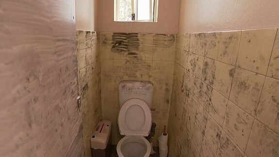 The bathroom inside of a Kogarah dance studio, where a young girl was sexually assaulted.