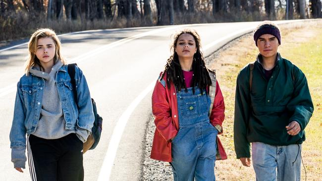 Chloe Grace Moretz, Sasha Lane and Forrest Goodluck play gay teenagers in The Miseducation of Cameron Post. Picture: Supplied