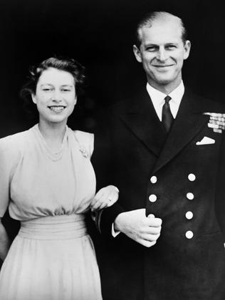 Then-Princess Elizabeth and Philip on the day of their engagement in July, 1947. Picture: AFP Photo