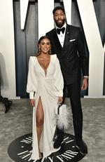 Anthony Davis (R) attends the 2020 Vanity Fair Oscar Party hosted by Radhika Jones at Wallis Annenberg Center for the Performing Arts on February 09, 2020 in Beverly Hills, California. Frazer Harrison/Getty Images/AFP