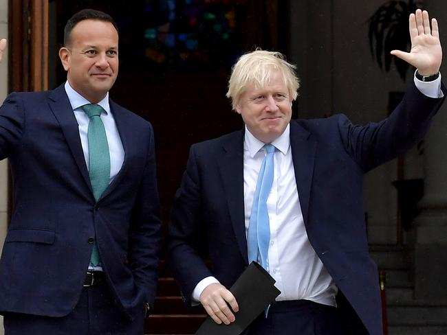 British Prime Minister Boris Johnson met with Irish Taoiseach Leo Varadkar who warned Johnson that leaving the EU with no deal risked causing instability in Northern Ireland. Photo: Charles McQuillan/Getty Images