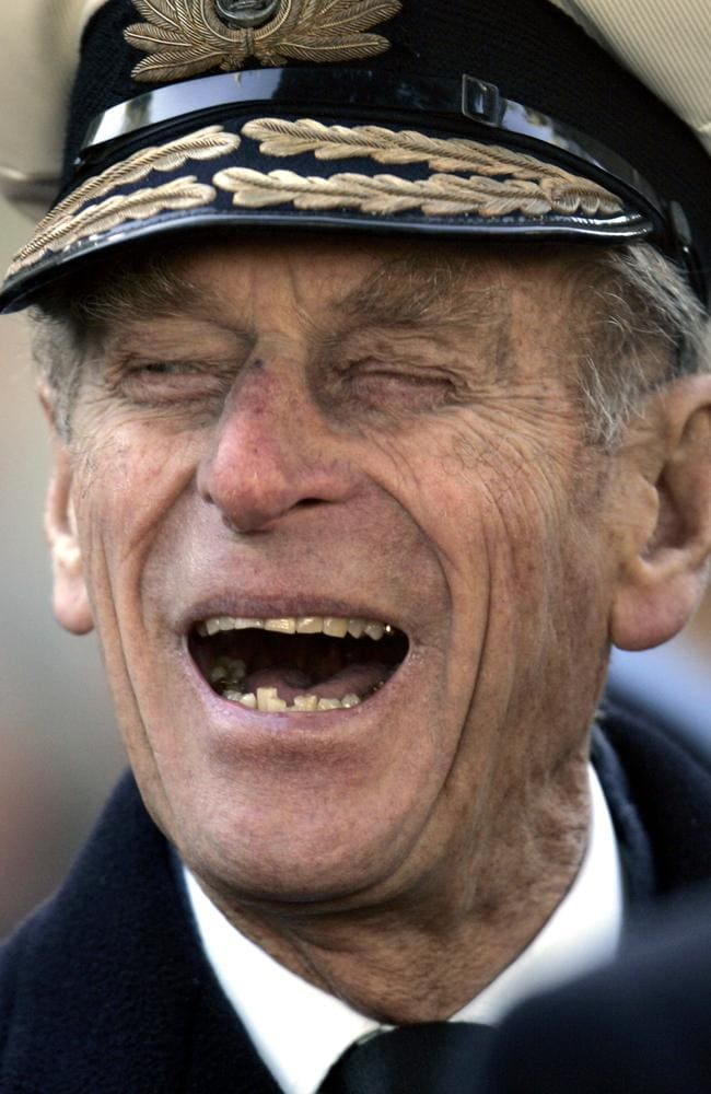"Britain's Prince Philip is renowned for his off-colour jokes, including telling a 13-year-old aspiring astronaut he was ""too fat"" to be an astronaut. Picture: AP Photo/Lefteris Pitarakis, File."