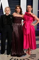 Amy Poehler, Tina Fey, and Maya Rudolph attend the 2019 Vanity Fair Oscar Party hosted by Radhika Jones at Wallis Annenberg Center for the Performing Arts on February 24, 2019 in Beverly Hills, California. Dia Dipasupil/Getty Images/AFP == FOR NEWSPAPERS, INTERNET, TELCOS & TELEVISION USE ONLY ==