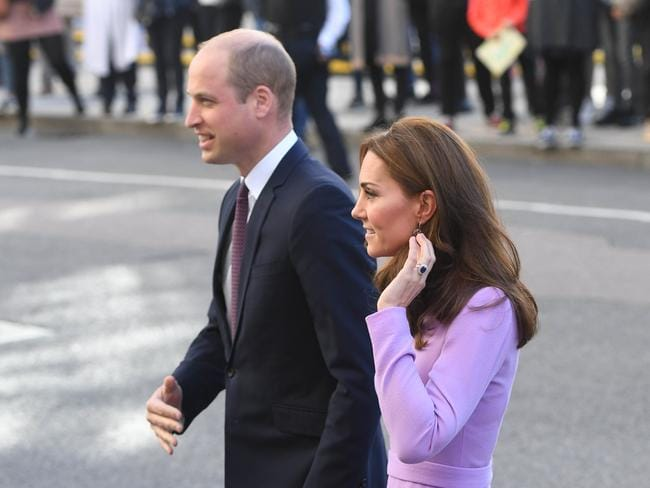 The royal couple at their first joint engagement since the birth of Prince Louis. Picture: Getty