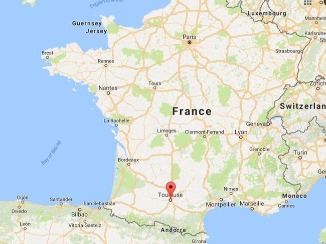 A driver has crashed into a group outside a French school in Toulouse. Picture: Google.