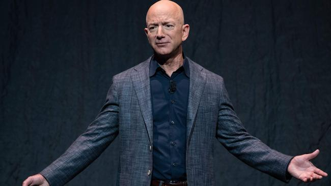 Amazon boss Jeff Bezos has been criticised for not donating enough of his fortune in the past. Picture: Saul Loeb / AFP