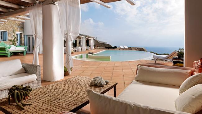 Plenty of places to lounge around this beautiful home. Picture: Savills Greece.